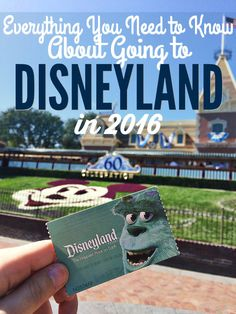 Here's a quick year-at-a-glance for everything you need to know about going to Disneyland in 2016.
