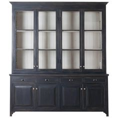 French Painted Eight Door Bibliothèque Made at Fireside For Sale Furniture, Modern Bookcase, Chalk Paint Dining Room Table, Bookcase With Glass Doors, Painted China Cabinets, Bookcase Wall, Online Furniture Stores, Dining Room Office, Painted Sideboard