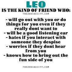 Zodiac City - Zodiac Files: Leo is the kind of friend who….