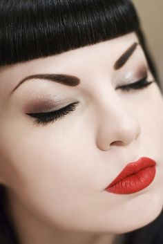 Classic Red and brows