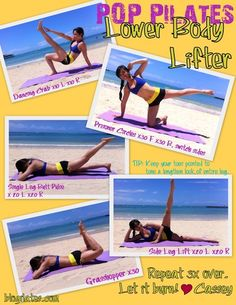 Pop Pilates Lowe Body Lifter Pilates works if you put the effort into it every day! I do 100-200 Pilates excercises every day and my abs show it