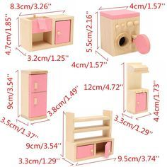 Crafts Furniture Wooden Delicate Dollhouse Furniture Toys Miniature For Kids Children Pretend Play 6 Room Dolls Toys - Kid Shop Global - Kids & Baby Shop Online - baby & kids clothing, toys for baby & kid Family Furniture, Baby Room Furniture, Barbie Furniture, Luxury Furniture, Children Furniture, Rustic Furniture, Antique Furniture, Wooden Baby Toys, Wood Toys