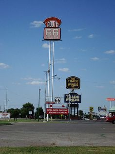 Gas stations and stores, Route 66 - Clinton, Oklahoma