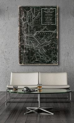 5 Ways to Fill a Blank Wall. Vintage Map of New York.