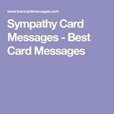 how to write sympathy card