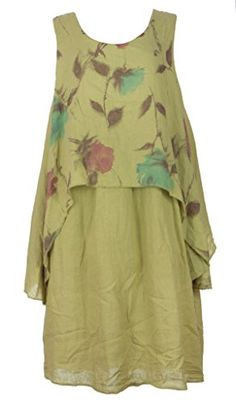 Ladies Womens Italian Lagenlook Quirky Sleeveless Floral Print Overlay Linen Long Tunic Dress One Size Plus UK 14-18 (One Size Plus, Lime Green) Generic http://www.amazon.co.uk/dp/B00XCHW69G/ref=cm_sw_r_pi_dp_Bpluvb01TBB6P