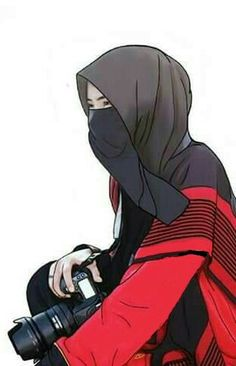 I love hijab . Cartoon Girl Drawing, Cartoon Sketches, Girl Cartoon, Cute Cartoon, Anime Muslim, Muslim Hijab, Beautiful Muslim Women, Beautiful Hijab, Muslim Girls
