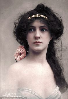 Supermodel Evelyn Nesbit in 1902. The photo project, titled My Colourful Past, was started by the artist, who is from Westport, Ireland, last year