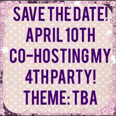 PARTY TIME PLEASE SHARE Save the Date! Bags