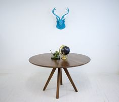 round dining table mid century modern oval table by - Modern Round Dining Table