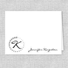 Monogram Note Cards Personalized Stationery by AJsPrints on Etsy
