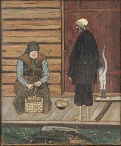 Potato Peeler, Tempera, Old Art, Illustration Art, Illustrations, Fantasy Art, Scandinavian, Death, Symbols