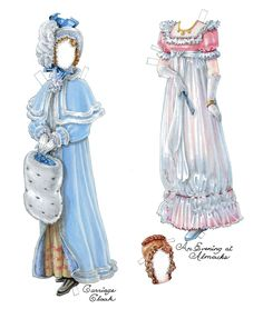 Regency paper doll clothes
