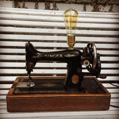 Singer sewing machine lamp #tunbridgewells #sewingmachine #singersewing #creative #retro