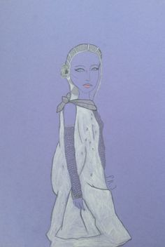 Drawing inspired on Chanel,made by F.R.Jacobs