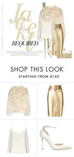 """""""Gold Rush"""" by lifestylestories ❤ liked on Polyvore featuring Dries Van Noten, Moschino, Raey and Jimmy Choo"""