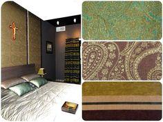 Для декора этой спальни дизайнеры @decor.for.u и @s_t_u_d_i_o_5 использовали #ткани #galleria_arben #IMAN и #ROSE
