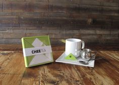Chee Tea, empaque estilo Tangram.