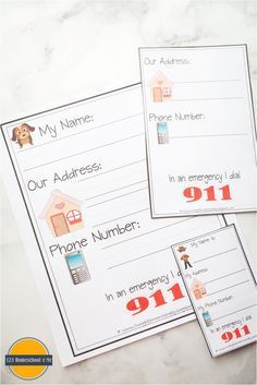 These FREE Learn My Name & Address Printables is perfect for helping preschool and kindergarten age kids to learn their name and address. Preschool Names, Preschool Writing, Numbers Preschool, Preschool Printables, Kindergarten Literacy, Teaching Activities, Teaching Kids, Kids Learning, Teaching Resources