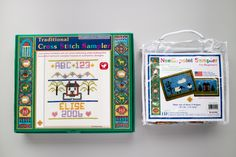 """""""Georgia's Girlhood Embroidery: 'Crowned with Glory and Immortality'"""" features samplers completed by young women who were just learning to master sewing, needlepoint and embroidery. You can bring those same skills to your own kids with these beginning stitchery kits from the Museum Shop. Each kit contains everything you need to create your own heirloom project. Now available for $16.95–$28.95 ($15.23–$26.06, members of the Friends)."""