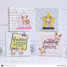 moccavanila by vera rhuhay Pretty Cards, Cute Cards, Diy Cards, Mama Elephant Stamps, Elephant Design, Card Maker, Xmas Cards, Clear Stamps, Stampin Up Cards
