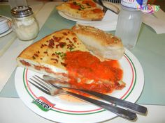Specialty Stuffed Pizzas (pepperoni and sausage) at Sbarro, Centrio Ayala Mall, Cagayan de Oro, Philippines Relax, Restaurant, Drink, Breakfast, Tableware, Food, Cagayan De Oro, Pizza, Morning Coffee
