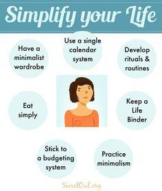 Secret OWL Society: 7 Ways to Simplify Your Life | pinned by KimbaLikes.com