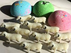 Sheep Farm Animal Large Bath Candy - Fun Farm Birthday Idea - Sheep Ram Party Favors - Toy Sheep inside - Lush Exploding Bath Bomb Kid Fun!