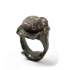 Ring | Karl Fritsch. Silver, rubies
