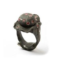 Ring | Karl Fritsch. Silver, rubies