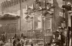 1883 Fontana del Laureti via Ugo Bassi Bologna I . La rimozione della cancellata