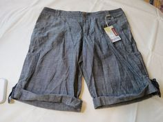Mossimo Supply Co Bermuda shorts Low Rise Relaxed Womens Ladies 15 cotton NWT #Mossimo #BermudaWalking