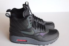 cheap for discount f1dd2 07290 New Women s Nike Air Max 1 Mid Sneakerboot Reflect Black 807307 001 Size  8.5  Nike