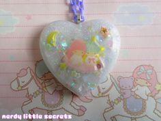 Fairy Kei Little Twin Stars Pastel Necklace by NerdyLittleSecrets, $15.00
