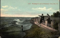 Watching the Surf at Waldameer Park Erie Pennsylvania 1912?