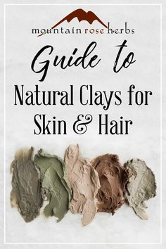 Guide to Natural Clays for Skin and Hair: When you're on the search for natural . - - Guide to Natural Clays for Skin and Hair: When you're on the search for natural … DIY Beauty Care, Beauty Skin, Beauty Tips, Beauty Products, Diy Beauty, Beauty Hacks, Homemade Beauty, Diy Products, Natural Products