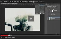 Double Exposure Action – a great tool for a photographer or designer. Create a wonderful effect of double exposure in a few seconds. After action finished work, you can add a color tone, or ...