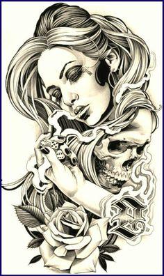 Gambling with death - temporäre tattoos Dibujos Tattoo, Desenho Tattoo, Chicano Tattoos, Gangster Tattoos, Totenkopf Tattoos, Tattoo Studio, Temporary Tattoos, Tattoo Drawings, Tatoos