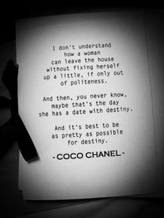 Musings by Coco Chanel