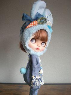◆ ブライスちゃん Outfit ブルーラビさん サルエル 6点セット ◆_画像1 Speech Balloon, Doll Hair, Custom Dolls, Blythe Dolls, Outfit Ideas, Disney Princess, Disney Characters, Cute, Photos