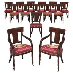 1stdibs | Set of 14, Mahogany Dining Chairs