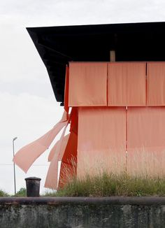ATELIER AMONT, HASSELT-GENK, LIMBURG, BELGIUM Summer Pavilion, 2014. outdoor curtains.