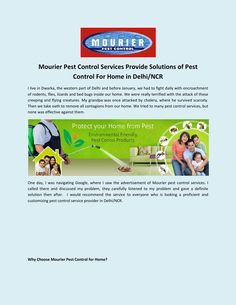 Choose Mourier for the eradication of contagions from your commercial place with its master stroke pest control services. Best Pest Control, Pest Control Services, Bug Control, Step Function, Scary Animals, Bees And Wasps, Pest Management, Truth Of Life, Protecting Your Home