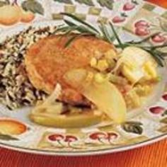 Apple-Leek Pork Chops