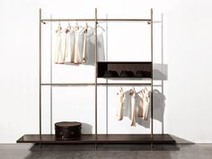 Porro Spa | Link between the bedroom and the living area, Boutique Mast, the new Porro storage system.