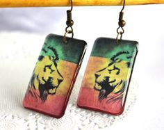 A personal favourite from my Etsy shop https://www.etsy.com/listing/235920425/transparent-earrings-lion-earrings-rasta