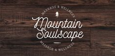 "1 of 4 first logo options for ""Mountain Soulscape"" - a massage and wellness studio out of South Lake Tahoe, California. - Created by Perspektiiv Design Co. // Portland, Oregon  Perspektiiv.com"