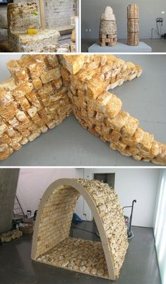 mushrooms bricks as building materials  sustainable like bamboo, easy to grow , lightweightwith strength of concrete