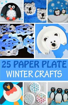 Paper plate winter crafts for kids: -easy snowflake, snowman, penguin, polar bear and more winter animal craft ideas. Cute classroom decorations. | Winter Crafts for Kids Winter Crafts For Toddlers, Crafts For Kids To Make, Toddler Crafts, Snowman Crafts For Preschoolers, Kids Crafts, Winter Activities, Crafts For Winter, Snow Crafts, Toddler Themes