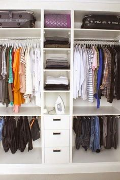 Collection of closet designs to organize your master bedroom, bring comfort and luxury into your home organization. Walk in closet design ideas Modern bedroom design with walk-in closet and sliding doors Custom-built walk-in closets are luxurious Hanging Wardrobe, Wardrobe Storage, Wardrobe Closet, Closet Space, Closet Storage, Closet Organization, Organization Ideas, Small Walk In Wardrobe, Storage Room